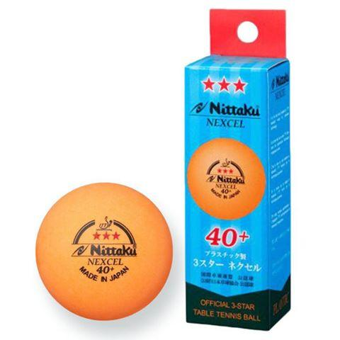12 x Nittaku 3-Star 40+ Nexcel Orange Balls